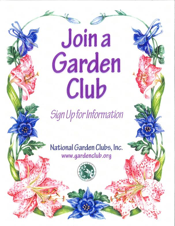 Attractive Join A Garden Club Poster