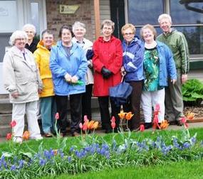 Independence Garden Club members toured Roger Buhr's gardens in Decorah.